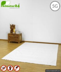 Shielding floor mat | Radiation protection against radio up to over 99.99% (41dB) | Grounding LF possible Effective against 5G!