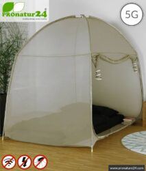 Shielding tent SAFECAVE QUEEN | > 99.99 % shielding effect (screening attentuation up to 47 dB) | anti-electrosmog full protection | free-standing, without ceiling suspension | LF groundable