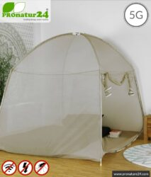 Shielding tent SAFECAVE SUPERKING | > 99.99 % shielding effect (screening attentuation up to 47 dB) | anti-electrosmog full protection | free-standing, without ceiling suspension | LF groundable