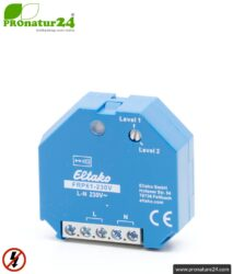 Flush-mounted repeater RP-NA16-UP | level 1 + 2 repeater for mounting in installation box | master switch set-up | building biology safe wireless technology according to EnOcean standard