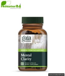 MENTAL CLARITY by Gaia Herbs | can support brain performance and concentration | mushrooms & Herbs (reishi, cordyceps, basil, rosemary, ...) | 60 capsules